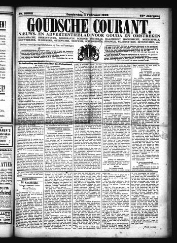 Goudsche Courant 1926-02-04