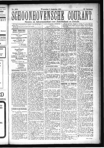 Schoonhovensche Courant 1922-08-09