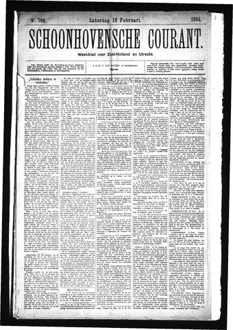 Schoonhovensche Courant 1884-02-16