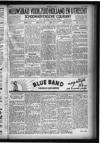 Schoonhovensche Courant 1932-07-04