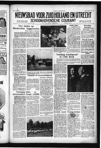 Schoonhovensche Courant 1957-09-23
