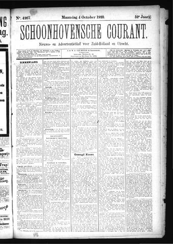 Schoonhovensche Courant 1920-10-04