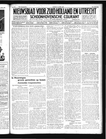 Schoonhovensche Courant 1940-04-22