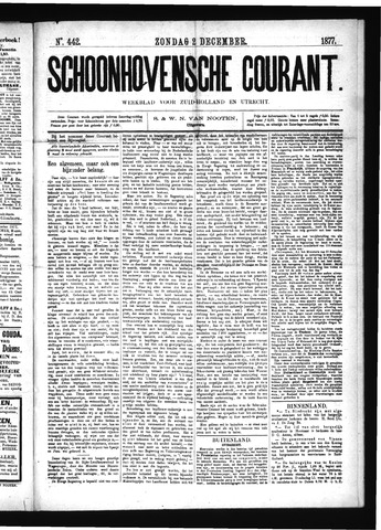 Schoonhovensche Courant 1877-12-02