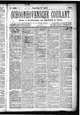 Schoonhovensche Courant 1912-04-27
