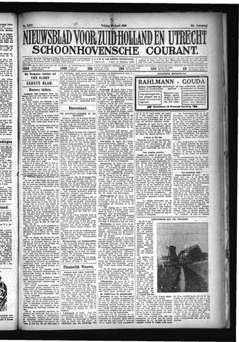 Schoonhovensche Courant 1929-04-26