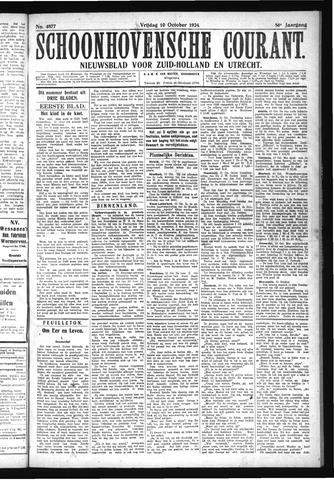Schoonhovensche Courant 1924-10-10