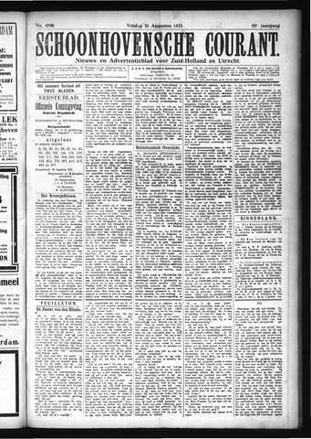 Schoonhovensche Courant 1923-08-31