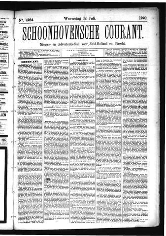 Schoonhovensche Courant 1920-07-14
