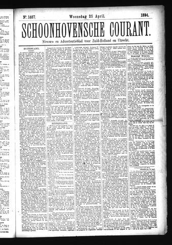 Schoonhovensche Courant 1894-04-25