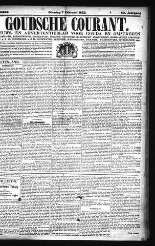 Goudsche Courant 1922-02-07