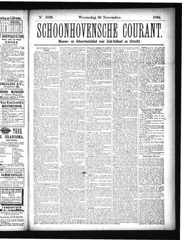 Schoonhovensche Courant 1894-11-28