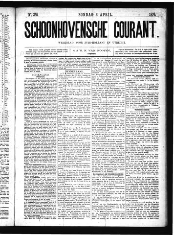 Schoonhovensche Courant 1876-04-02