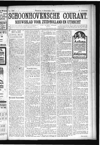 Schoonhovensche Courant 1925-12-14