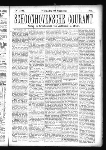 Schoonhovensche Courant 1894-08-29