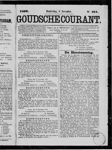 Goudsche Courant 1866-11-08