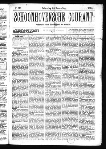 Schoonhovensche Courant 1884-12-20