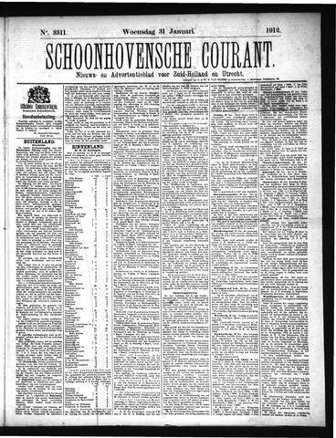 Schoonhovensche Courant 1912-01-31