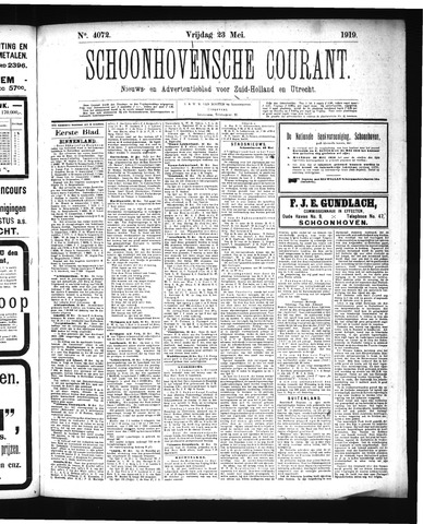 Schoonhovensche Courant 1919-05-23