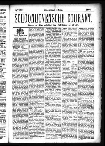 Schoonhovensche Courant 1898-06-01