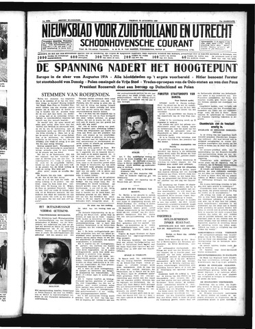 Schoonhovensche Courant 1939-08-25