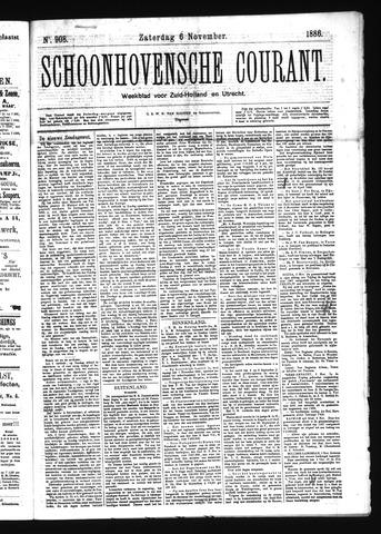 Schoonhovensche Courant 1886-11-06