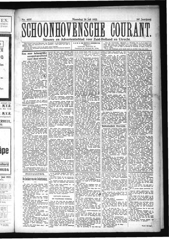 Schoonhovensche Courant 1922-07-24