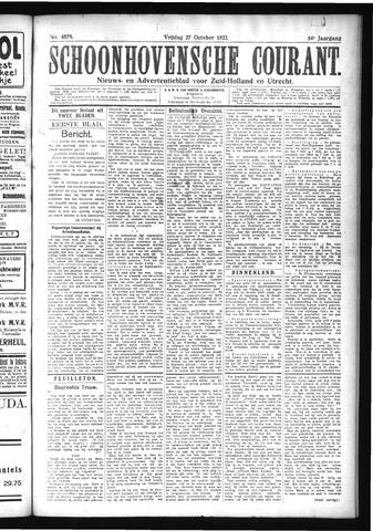 Schoonhovensche Courant 1922-10-27