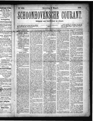 Schoonhovensche Courant 1889-03-09