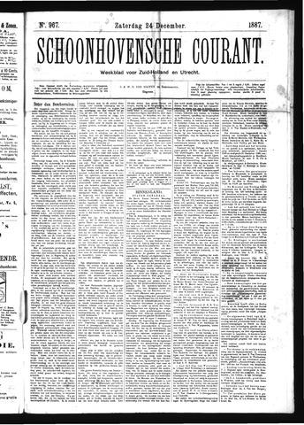 Schoonhovensche Courant 1887-12-24