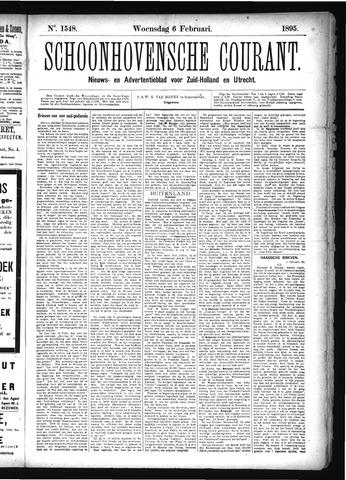 Schoonhovensche Courant 1895-02-06