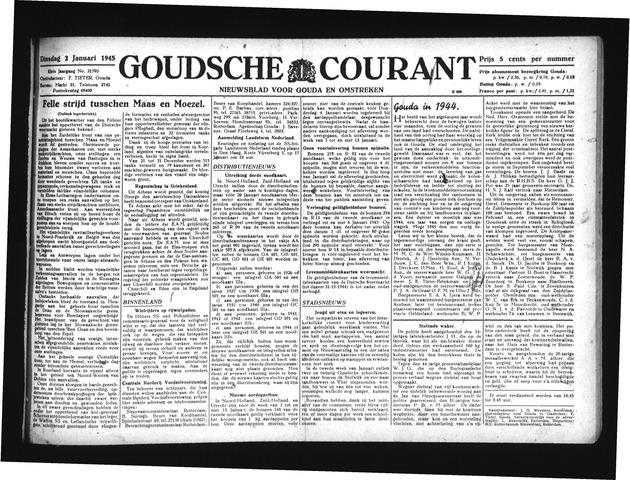 Goudsche Courant 1945
