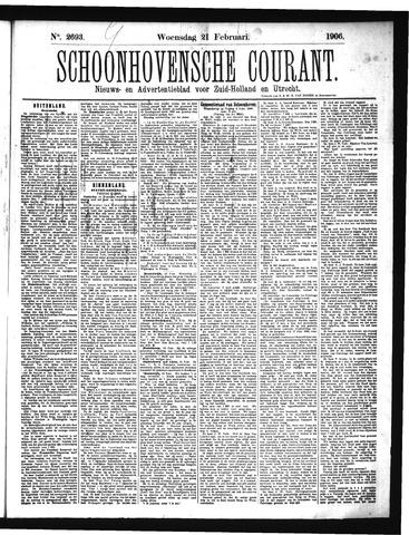 Schoonhovensche Courant 1906-02-21