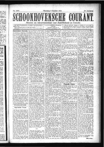 Schoonhovensche Courant 1922-10-09