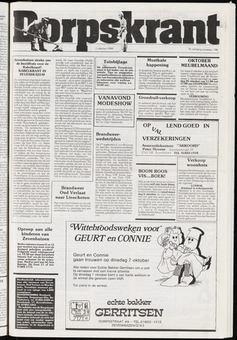 Dorpskrant 1986-10-01