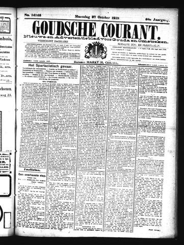 Goudsche Courant 1919-10-27