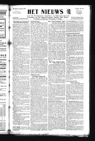 Schoonhovensche Courant 1945-08-06