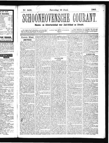 Schoonhovensche Courant 1903-06-20