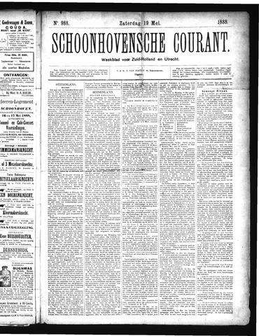 Schoonhovensche Courant 1888-05-19