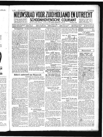 Schoonhovensche Courant 1939-04-19
