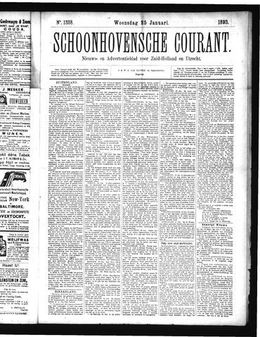 Schoonhovensche Courant 1893-01-25