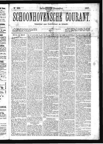 Schoonhovensche Courant 1887-12-10