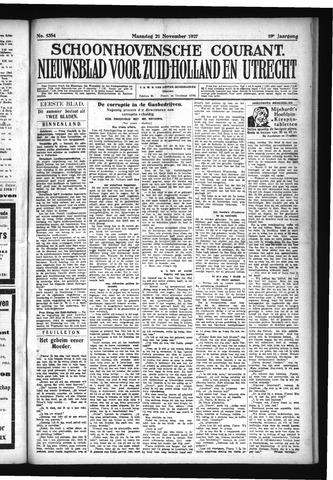 Schoonhovensche Courant 1927-11-21