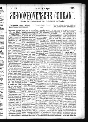 Schoonhovensche Courant 1893-04-08
