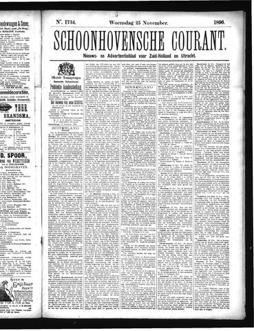 Schoonhovensche Courant 1896-11-25