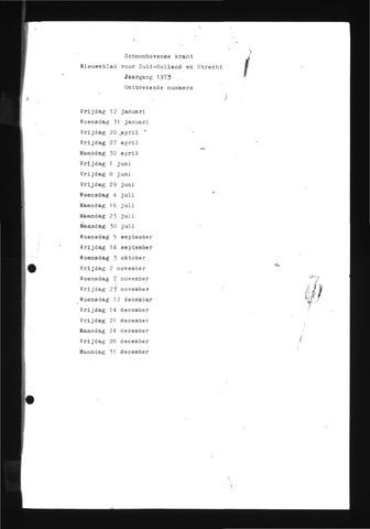 Schoonhovensche Courant 1973