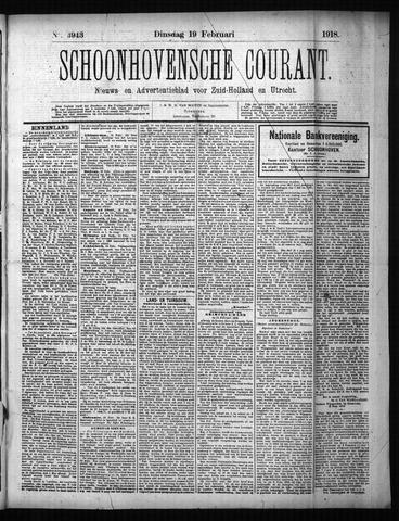 Schoonhovensche Courant 1918-02-19