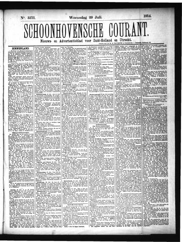 Schoonhovensche Courant 1914-07-29