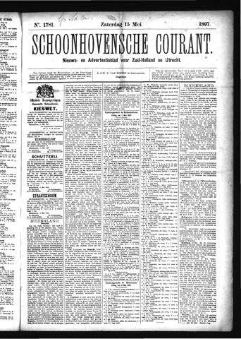 Schoonhovensche Courant 1897-05-15