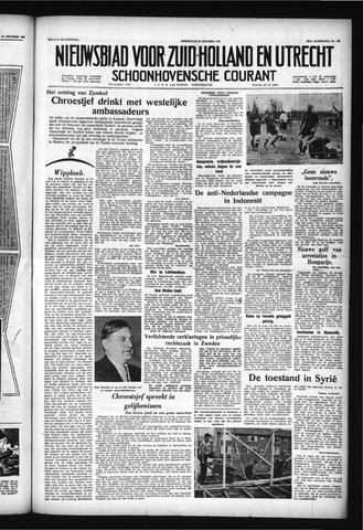 Schoonhovensche Courant 1957-10-30
